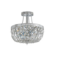 Crystorama Richmond 3 Light Semi-Flush Mount in Chrome with Hand Cut Crystals 119-12-CH-CL-MWP