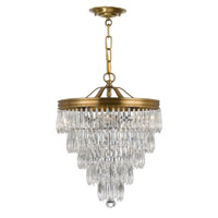 Crystorama Chloe 3 Light Pendant in Aged Brass with Hand Cut Crystals 120-AG
