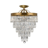 Crystorama Chloe 3 Light Semi-Flush Mount in Aged Brass 120-AG_CEILING