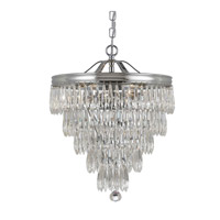 Crystorama 120-CH Chloe 3 Light 12 inch Polished Chrome Pendant Ceiling Light photo thumbnail