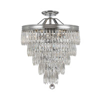 Chloe 3 Light 12 inch Polished Chrome Semi Flush Mount Ceiling Light