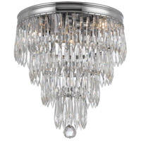 Chloe 3 Light 10 inch Polished Chrome Flush Mount Ceiling Light