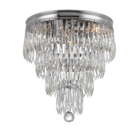 Crystorama Chloe 3 Light Flush Mount in Polished Chrome with Hand Cut Crystals 125-CH