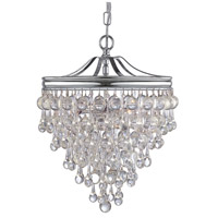 Crystorama 130-CH Calypso 3 Light 12 inch Polished Chrome Mini Chandelier Ceiling Light in Polished Chrome (CH)