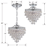 Crystorama 130-CH_CEILING Calypso 3 Light 13 inch Polished Chrome Semi Flush Mount Ceiling Light in Polished Chrome (CH) alternative photo thumbnail