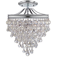 Crystorama 130-CH_CEILING Calypso 3 Light 13 inch Polished Chrome Semi Flush Mount Ceiling Light in Polished Chrome (CH)