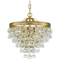 Crystorama 130-VG Calypso 3 Light 12 inch Vibrant Gold Mini Chandelier Ceiling Light