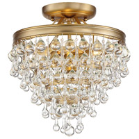 Crystorama 130-VG_CEILING Calypso 3 Light 12 inch Vibrant Gold Mini Chandelier Ceiling Light