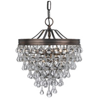 Crystorama Calypso 3 Light Chandelier in Vibrant Bronze with Glass Ball Crystals 130-VZ