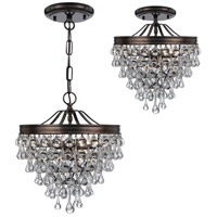 Crystorama 130-VZ Calypso 3 Light 13 inch Vibrant Bronze Mini Chandelier Ceiling Light in Vibrant Bronze (VZ) alternative photo thumbnail
