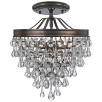 Calypso 3 Light 12 inch Vibrant Bronze Semi Flush Mount Ceiling Light in Vibrant Bronze (VZ)