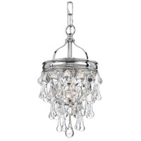 Calypso 1 Light 8 inch Polished Chrome Mini Chandelier Ceiling Light in Polished Chrome (CH)