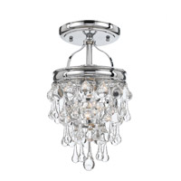 Crystorama 131-CH_CEILING Calypso 1 Light 7 inch Polished Chrome Semi Flush Mount Ceiling Light in Polished Chrome (CH) photo thumbnail