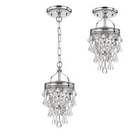 Crystorama 131-CH_CEILING Calypso 1 Light 7 inch Polished Chrome Semi Flush Mount Ceiling Light in Polished Chrome (CH) alternative photo thumbnail