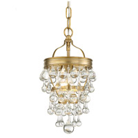 Crystorama 131-VG Calypso 1 Light 8 inch Vibrant Gold Mini Chandelier Ceiling Light