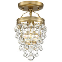 Crystorama 131-VG_CEILING Calypso 1 Light 8 inch Vibrant Gold Ceiling Mount Ceiling Light