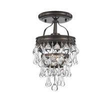 Crystorama Calypso 1 Light Semi-Flush Mount in Vibrant Bronze 131-VZ_CEILING