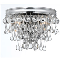 Crystorama Calypso 2 Light Wall Sconce in Polished Chrome with Clear Smooth Ball Crystals 132-CH