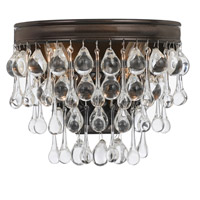 Crystorama Calypso 2 Light Wall Sconce in Vibrant Bronze with Glass Ball Crystals 132-VZ