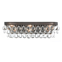 Crystorama Calypso 6 Light Bath Light in Vibrant Bronze with Glass Ball Crystals 133-VZ