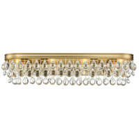 Crystorama 134-VG Calypso 8 Light 33 inch Vibrant Gold Bathroom Vanity Wall Light