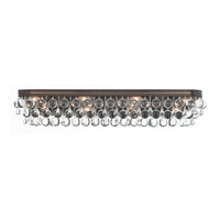 Crystorama Calypso 8 Light Bath Light in Vibrant Bronze with Glass Ball Crystals 134-VZ