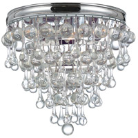 Crystorama 135-CH Calypso 3 Light 10 inch Polished Chrome Flush Mount Ceiling Light in Polished Chrome (CH)