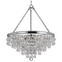 Crystorama 136-CH Calypso 6 Light 20 inch Polished Chrome Chandelier Ceiling Light in Polished Chrome (CH)