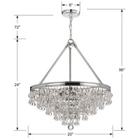 Crystorama 136-CH Calypso 6 Light 20 inch Polished Chrome Chandelier Ceiling Light in Polished Chrome (CH) alternative photo thumbnail