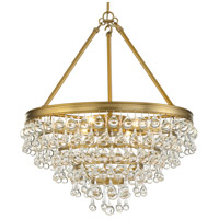 Crystorama 136-VG Calypso 6 Light 20 inch Vibrant Gold Chandelier Ceiling Light