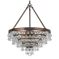 Crystorama Calypso 6 Light Chandelier in Vibrant Bronze with Glass Ball Crystals 136-VZ