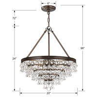 Crystorama 136-VZ Calypso 6 Light 20 inch Vibrant Bronze Chandelier Ceiling Light in Vibrant Bronze (VZ) alternative photo thumbnail
