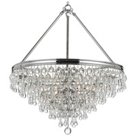 Crystorama 137-CH Calypso 8 Light 25 inch Polished Chrome Chandelier Ceiling Light in Polished Chrome (CH)