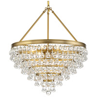 Crystorama 137-VG Calypso 8 Light 24 inch Vibrant Gold Chandelier Ceiling Light