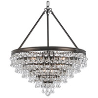 Crystorama Calypso 8 Light Chandelier in Vibrant Bronze with Glass Ball Crystals 137-VZ