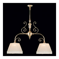 Crystorama Manchester 2 Light Pendant in Polished Brass 1372-PB