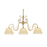 Crystorama Manchester 3 Light Island Light in Polished Brass 1373-PB