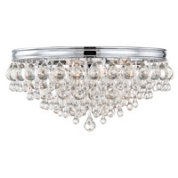 Crystorama 138-CH Calypso 6 Light 20 inch Polished Chrome Flush Mount Ceiling Light in Polished Chrome (CH)