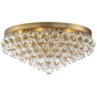 Crystorama 138-VG Calypso 6 Light 20 inch Vibrant Gold Flush Mount Ceiling Light
