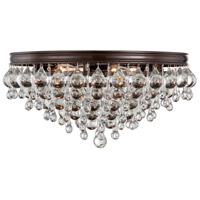 Calypso 6 Light 20 inch Vibrant Bronze Flush Mount Ceiling Light in Vibrant Bronze (VZ)