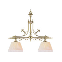 Crystorama Manchester 2 Light Island Light in Polished Brass 1382-PB