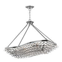 Crystorama Calypso 8 Light Chandelier in Polished Chrome 139-CH photo thumbnail