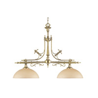 Crystorama Manchester 2 Light Billard Light in Olde Brass 1392-OB