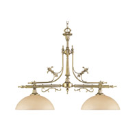 Crystorama Manchester 2 Light Chandelier in Polished Brass 1392-PB