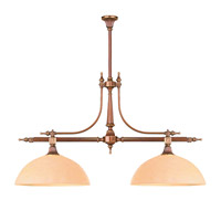 Signature 2 Light 38 inch Roman Bronze Chandelier Ceiling Light in Roman Bronze (RB)