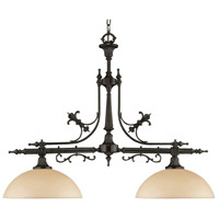 Signature 2 Light 38 inch Vibrant Bronze Chandelier Ceiling Light