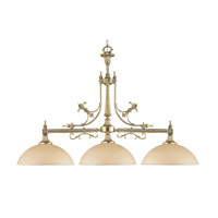 Crystorama Manchester 3 Light Island Light in Olde Brass 1393-PB