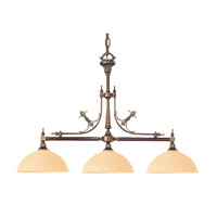Crystorama Manchester 3 Light Island Light in Roman Bronze 1393-RB
