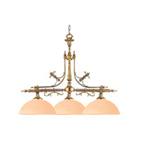 Crystorama Lighting Manchester 3 Light Billard Light in Olde Brass 1395-OB