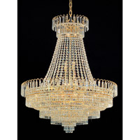 Crystorama Empire II 20 Light Chandelier in Gold 1402-GD-CL-MWP